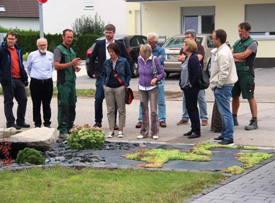 Besuch der Fa. Raber, Gartengestaltung. Foto J. Räuber
